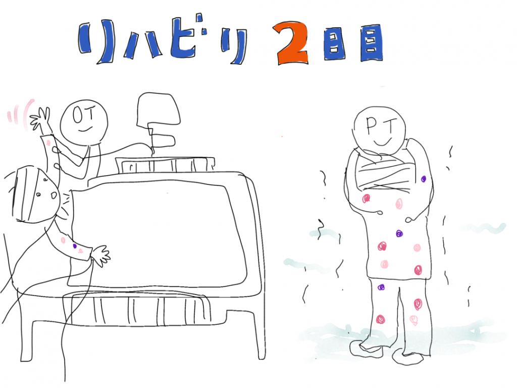 リハビリ2日目